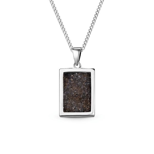 Meteorit Silberbarren - Kette mit Anhänger eckig