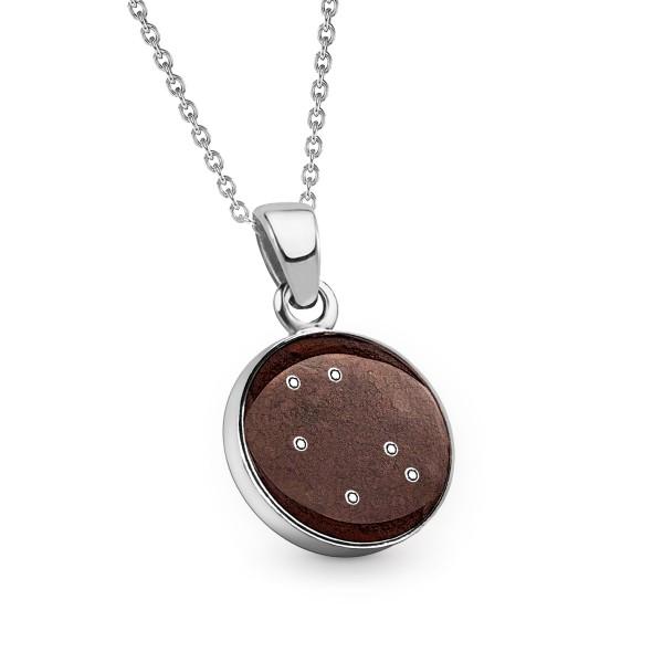 Necklace Zodiac Gemini - Meteorite Star 12 mm