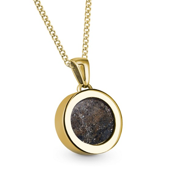 Meteorite Coin – Gold Pendant